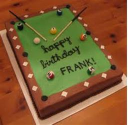 Pool table Cake 1Kg